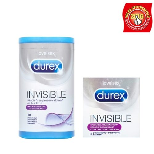 DUREX INVISIBLE EXTRA LUBRICATED, EXTRA SENSITIVE