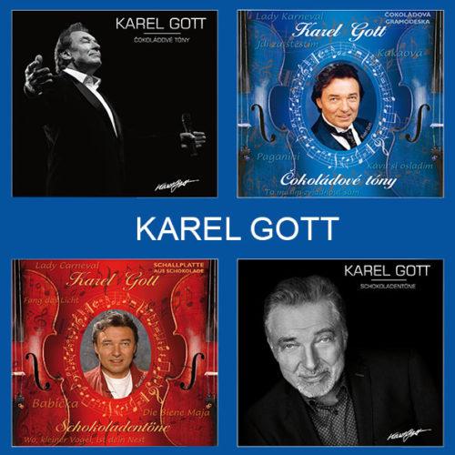 Čokoládová gramofonová deska 80g – Karel Gott