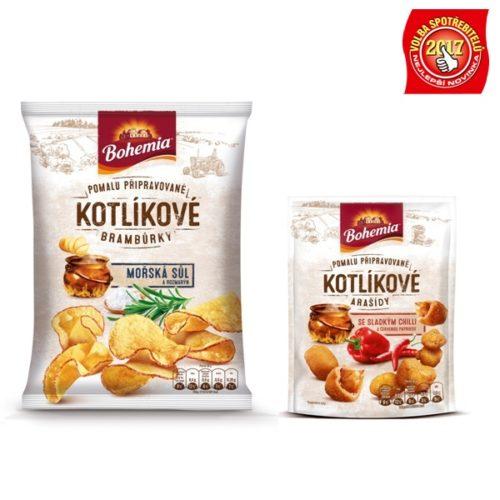 Bohemia Kotlíkové brambůrky a Kotlíkové arašídy