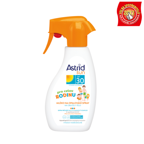 ASTRID SUN Rodinné mléko na opalování spray OF 30