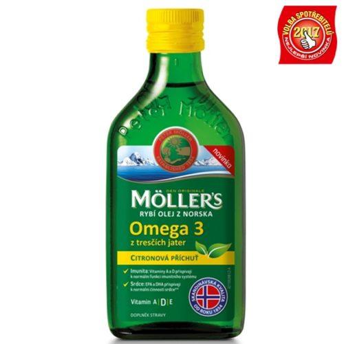 Möller's rybí olej omega 3 s citronovou příchutí