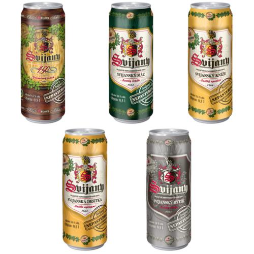 Nepasterovaná plechovková piva Svijany
