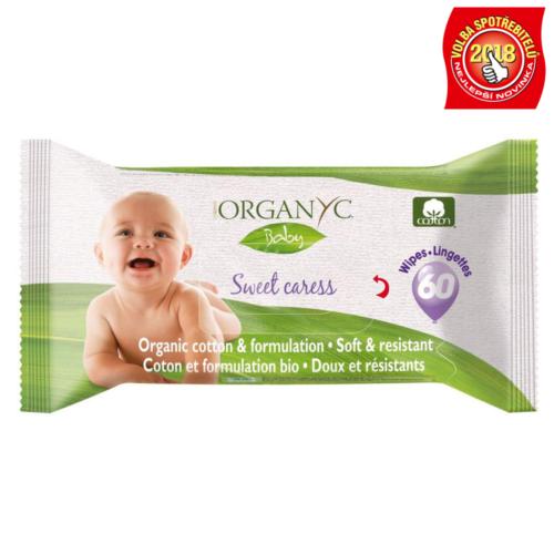 Vlhké čistící ubrousky Organyc Baby