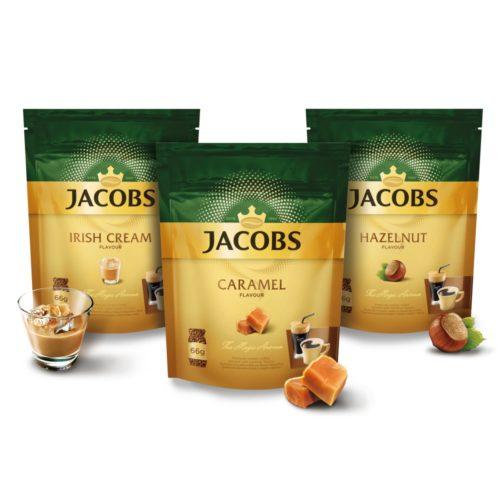 Ochucené rozpustné kávy Jacobs