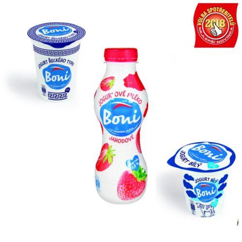 Jogurty a jogurtové nápoje Boni