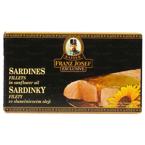 FJK Sardinky filety ve slunečnicovém oleji