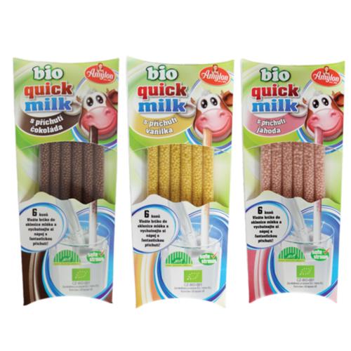 Bio Quick Milk Magická brčka do mléka