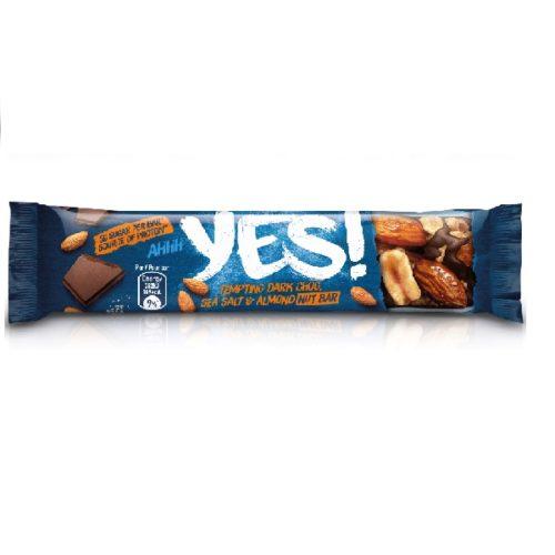 YES! Ořechová tyčinka s mandlemi & mořskou solí v hořké čokoládě