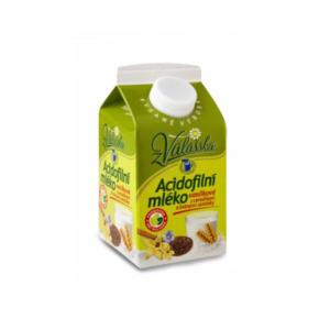 Acidofilní mléko vanilkové s cereáliemi a lněnými semínky