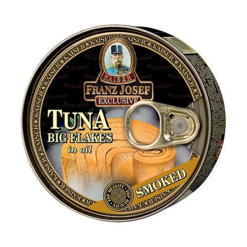 Tuňák kousky ve slunečnicovém oleji s uzenou příchutí 170g