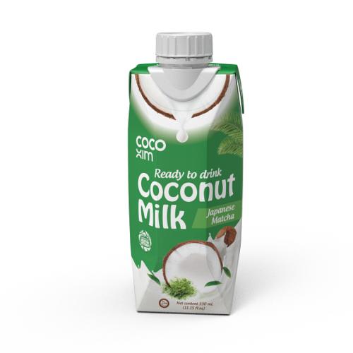 COCOXIM kokosový nápoj matcha 330 ml