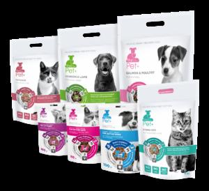 thePet+: krmiva a pochoutky pro psy a kočky s čerstvým masem a bylinkami