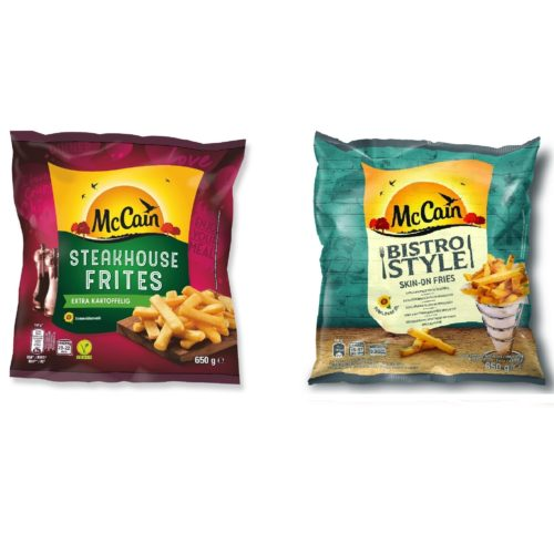 Křupavé hranolky McCain – Steakhouse Frite a Bistro Style