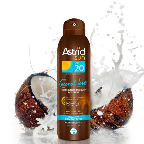 ASTRID SUN – olejový zážitek plný exotiky s kokosovou vůní