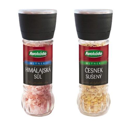 Nové mlýnky Avokádo: Česnek sušený a Himálajská sůl