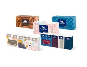 Papírové kapesníky a kosmetické ubrousky Harmony v novém designu
