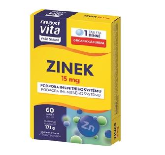 MaxiVita® Zinek – novinka pro podporu imunity