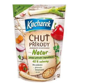 Kucharek NATUR Chuť přírody – receptura s pouze přírodními ingrediencemi!