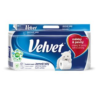 Toaletní papír Velvet jemně bílý